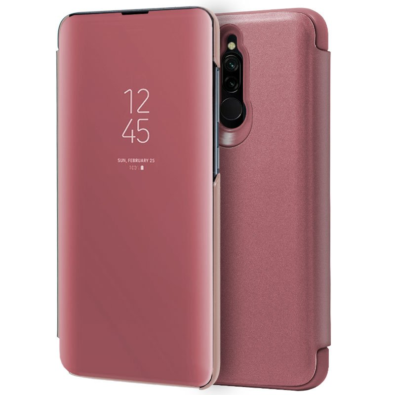 Funda Flip Cover Xiaomi Redmi 8 / 8A Clear View Rosa