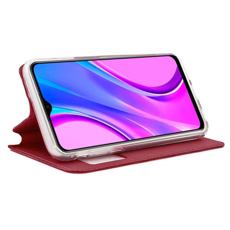 Funda Flip Cover Xiaomi Redmi 9 Liso Rojo