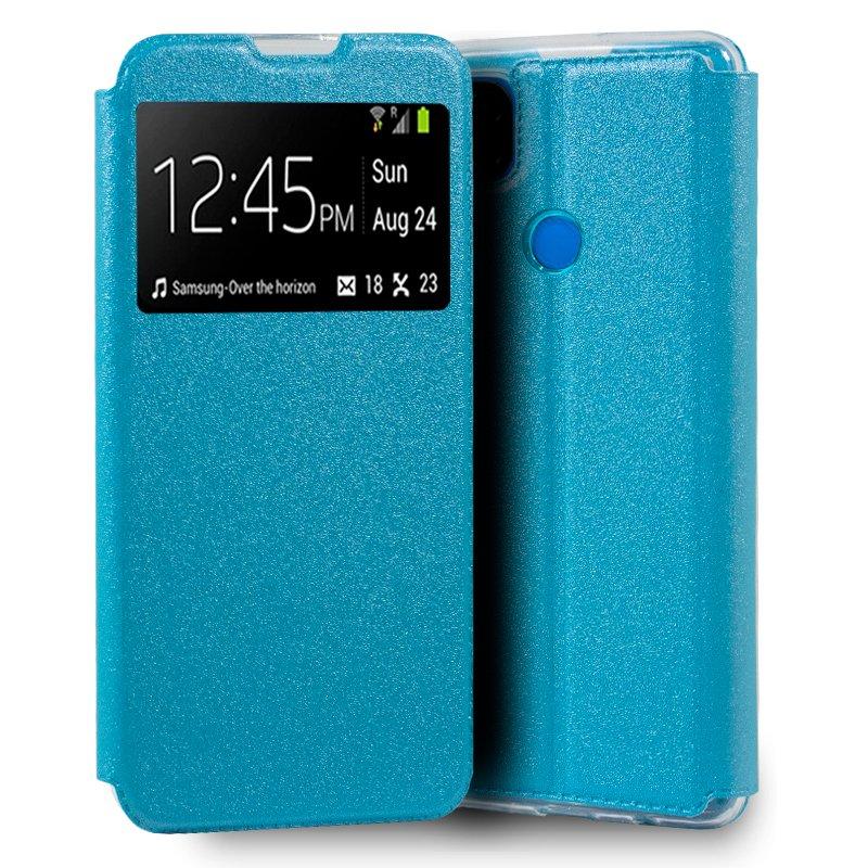 Funda Flip Cover Xiaomi Redmi 9C Liso Celeste