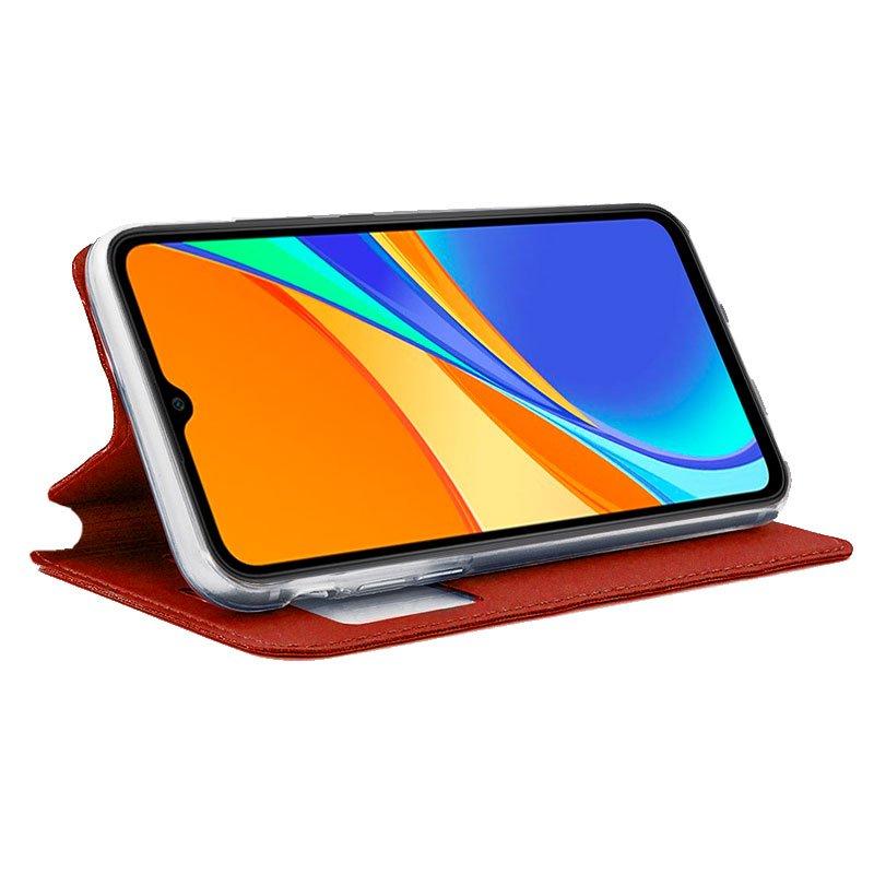 Funda Flip Cover Xiaomi Redmi 9C Liso Rojo