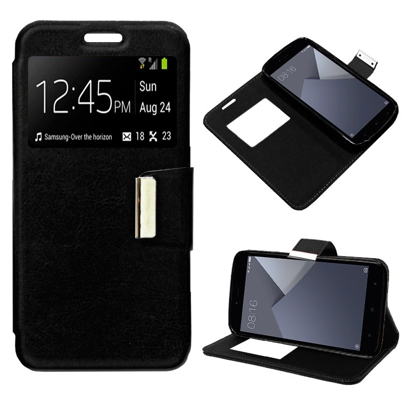 Funda Flip Cover Xiaomi Redmi Note 5A / Note 5A Prime Liso Negro
