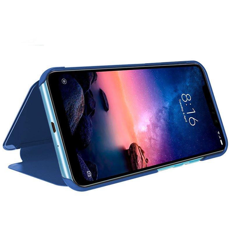 Funda Flip Cover Xiaomi Redmi Note 6 Pro Clear View Azul