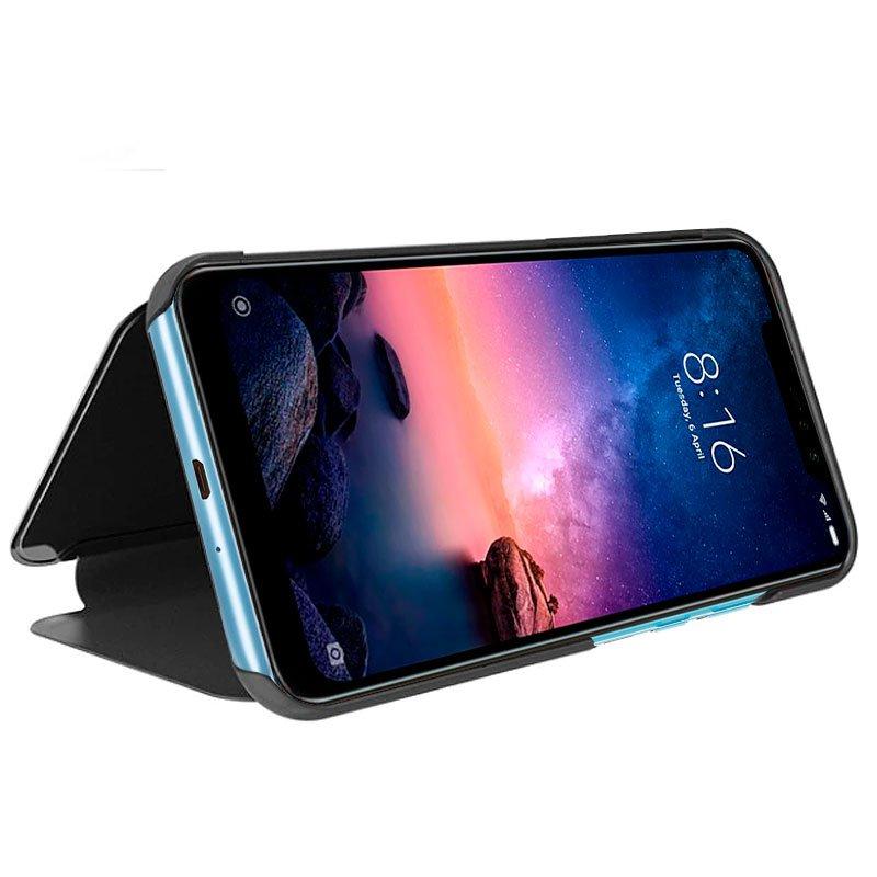 Funda Flip Cover Xiaomi Redmi Note 6 Pro Clear View Negro