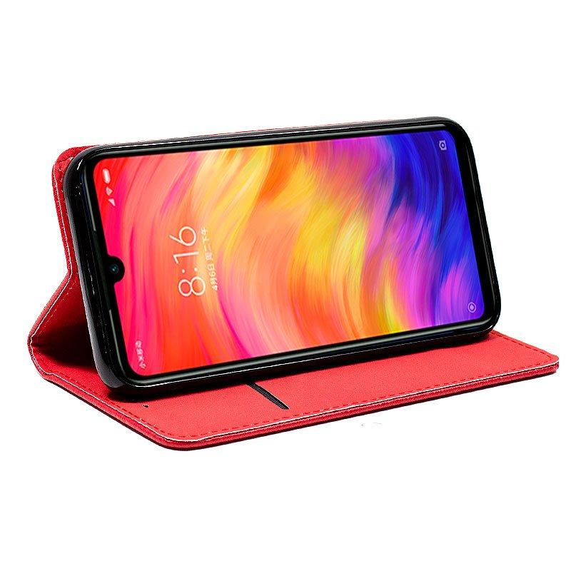 Funda Flip Cover Xiaomi Redmi Note 7 / Note 7 Pro Liso Rojo