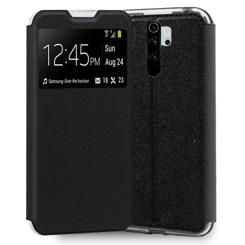 Funda Flip Cover Xiaomi Redmi Note 8 Pro Liso Negro