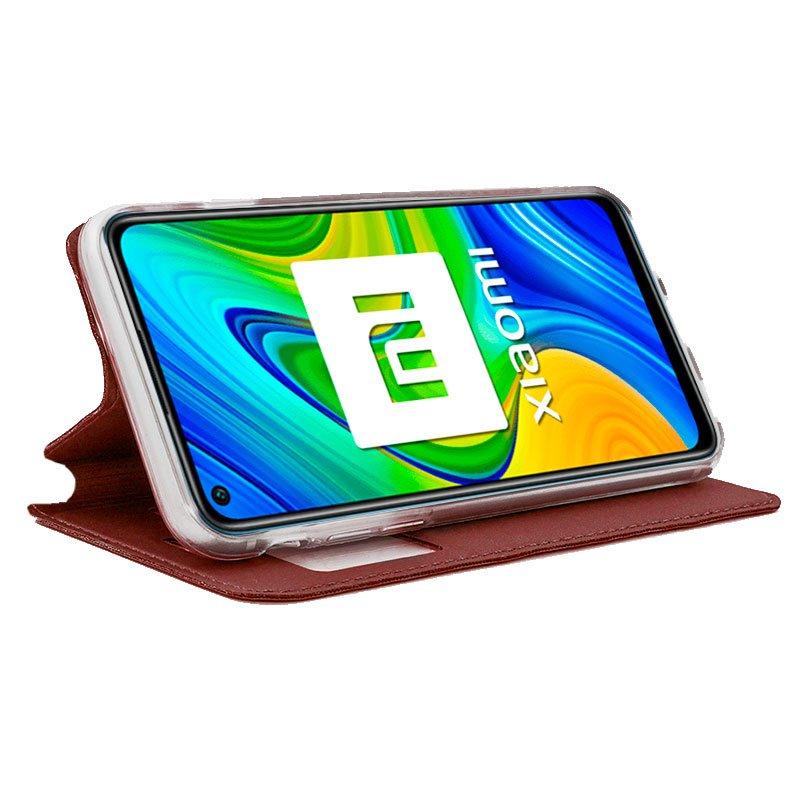 Funda Flip Cover Xiaomi Redmi Note 9 Liso Rojo
