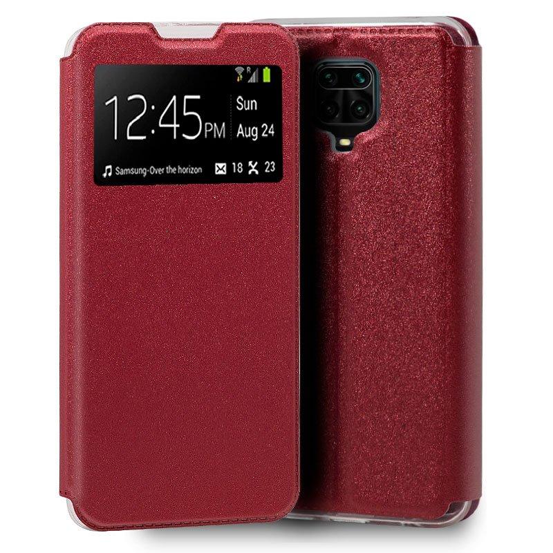 Funda Flip Cover Xiaomi Redmi Note 9S / Note 9 Pro Liso Rojo