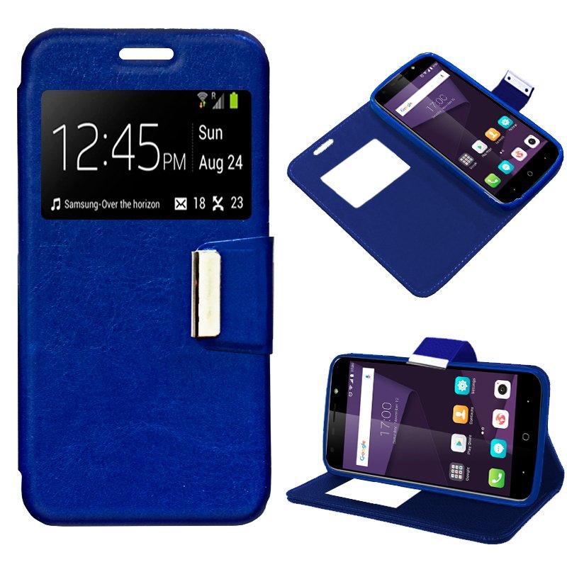 Funda Flip Cover ZTE Blade A6 / A6 Lite Liso Azul