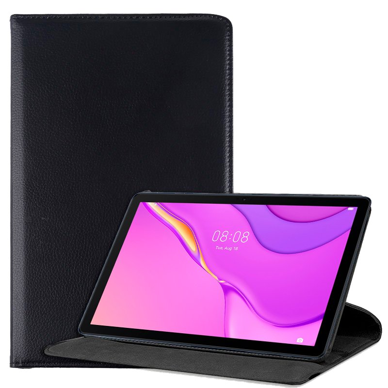 Funda Huawei Matepad T10s Polipiel Liso Negro 10.1 pulg