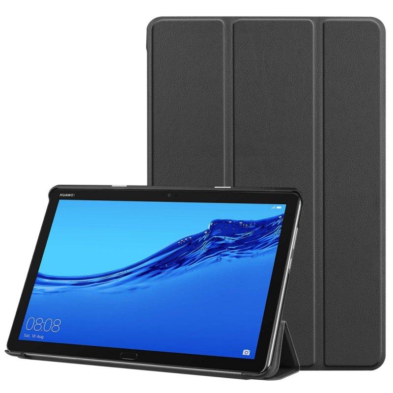 Funda Huawei Mediapad M5 Lite Polipiel Liso Negro 10.1 pulg