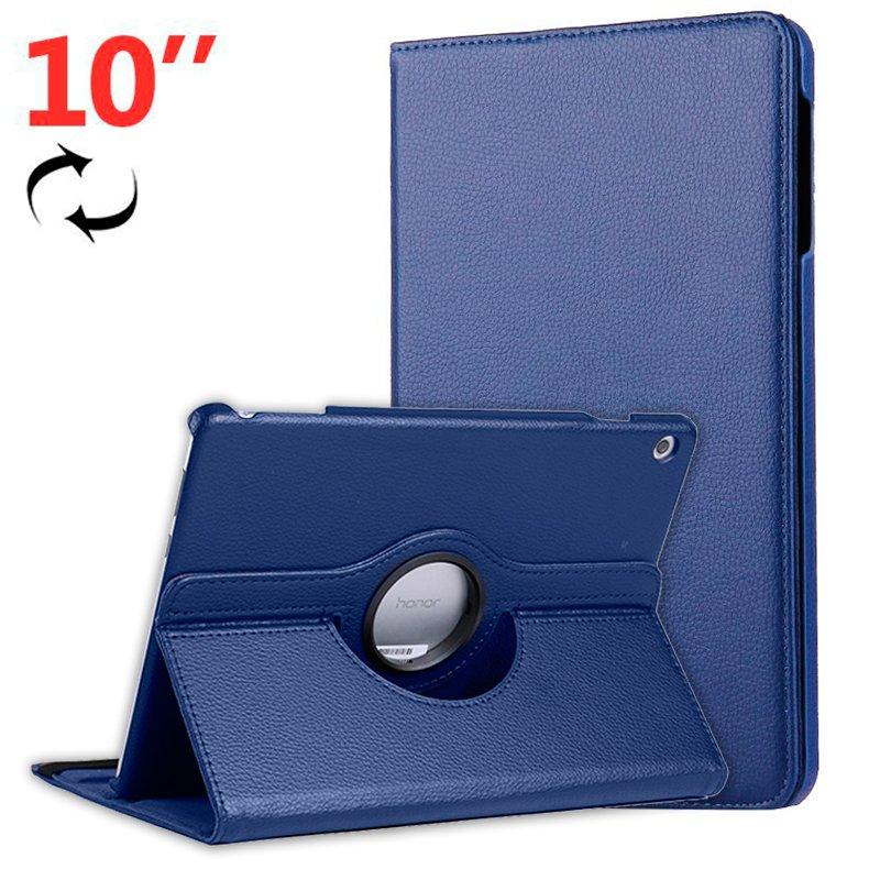 Funda Huawei Mediapad T5 Polipiel Liso Azul 10 pulg