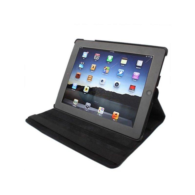 Funda iPad 2 / iPad 3 / 4 Giratoria Polipiel color Negro (Soporte)