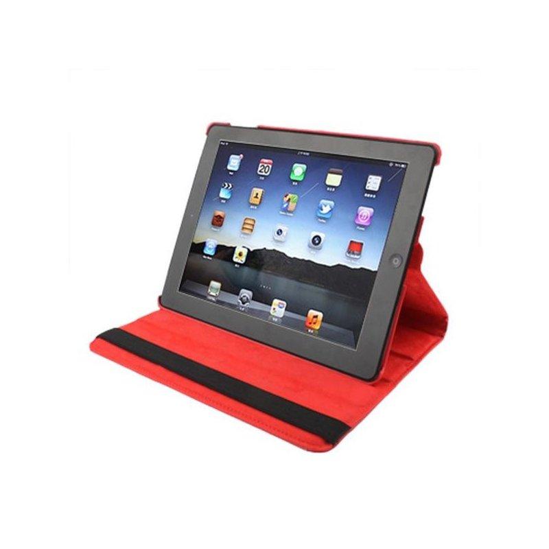 Funda iPad 2 / iPad 3 / 4 Giratoria Polipiel color Rojo (Soporte)
