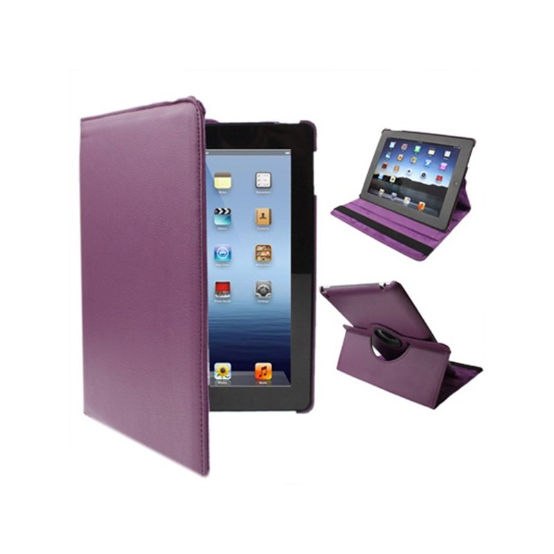 Funda iPad 2 / iPad 3 / 4 Giratoria Polipiel color Violeta (Soporte)