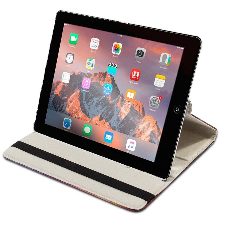 Funda iPad 2 / iPad 3 / 4 Giratoria Polipiel Dibujos Aloha (Soporte)