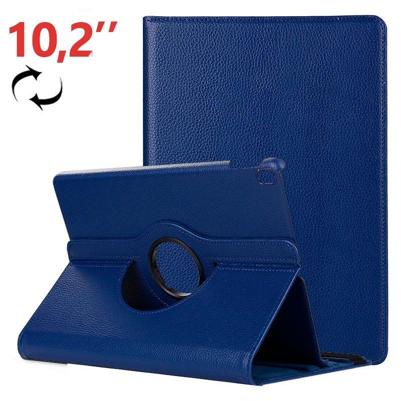 Funda iPad (2019 / 2020) 10,2 pulg Giratoria Polipiel Azul
