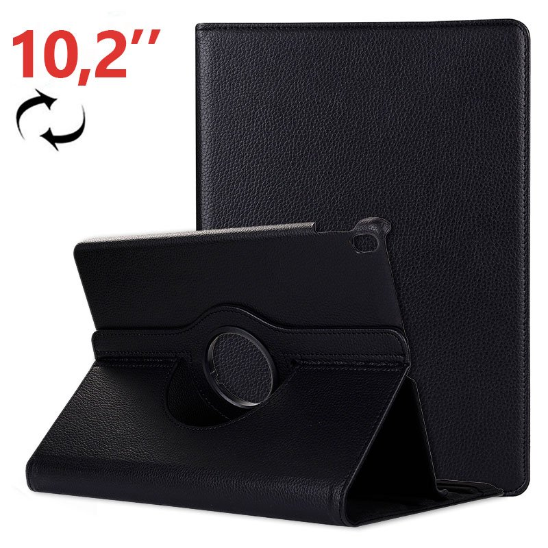 Funda iPad (2019 / 2020) 10,2 pulg Giratoria Polipiel Negro