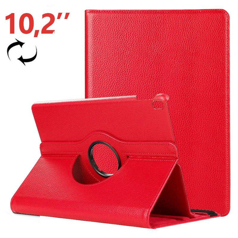 Funda iPad (2019 / 2020) 10,2 pulg Giratoria Polipiel Rojo