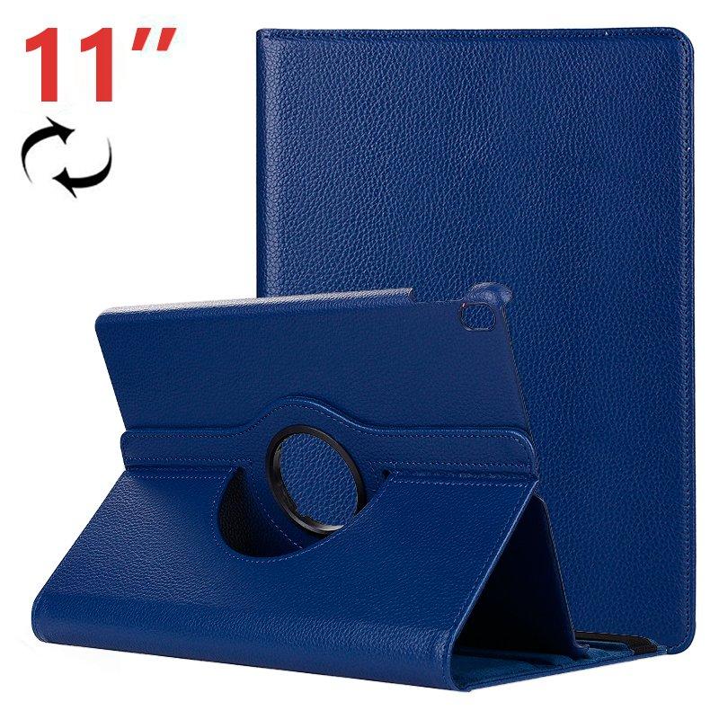 Funda iPad Pro 11 (2018) Giratoria Polipiel Azul