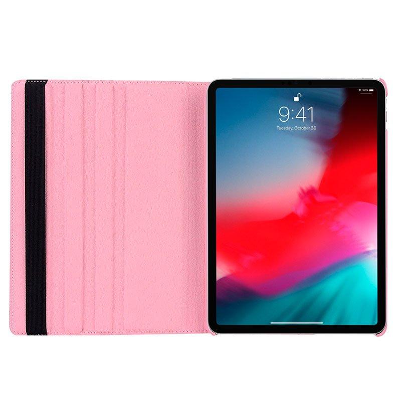 Funda iPad Pro 11 (2018) Giratoria Polipiel Rosa