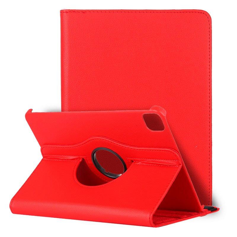 Funda iPad Pro 11 pulg (2020) / iPad Air 4 (10.9) Giratoria Polipiel Rojo