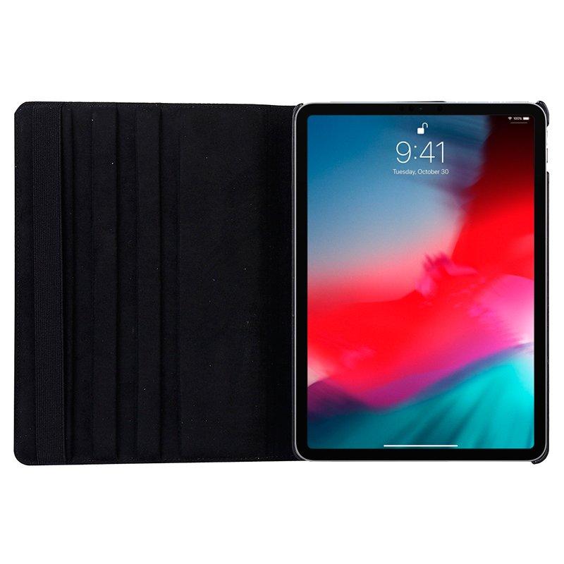 Funda iPad Pro 12.9 pulg (2018) Giratoria Polipiel Negro