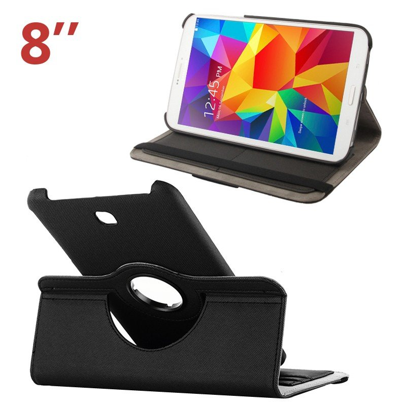 Funda Samsung Galaxy Tab 4 T330 Polipiel Negra 8 pulg