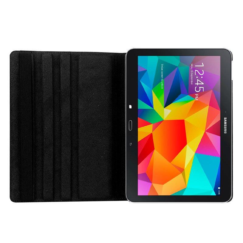 Funda Samsung Galaxy Tab 4 T530 Giratoria Polipiel Negra 10.1 pulg