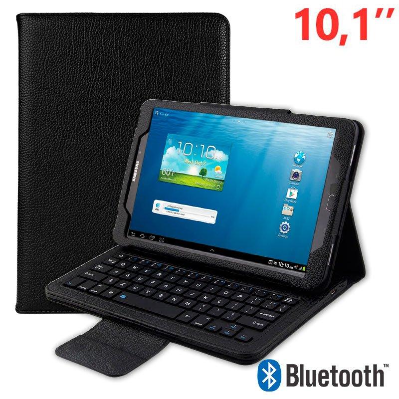 Funda Samsung Galaxy Tab A (2016 / 2018) T580 / T585 Polipiel Teclado Bluetooth 10.1 Pulg