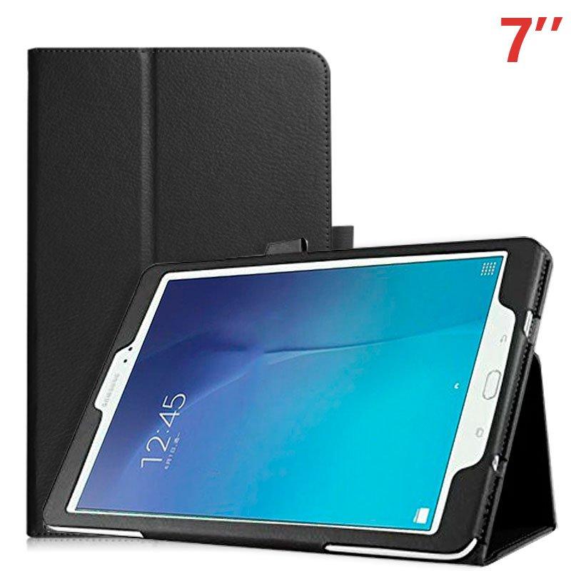 Funda Samsung Galaxy Tab A7 (2016) T280 / T285 Polipiel Negro 7 pulg