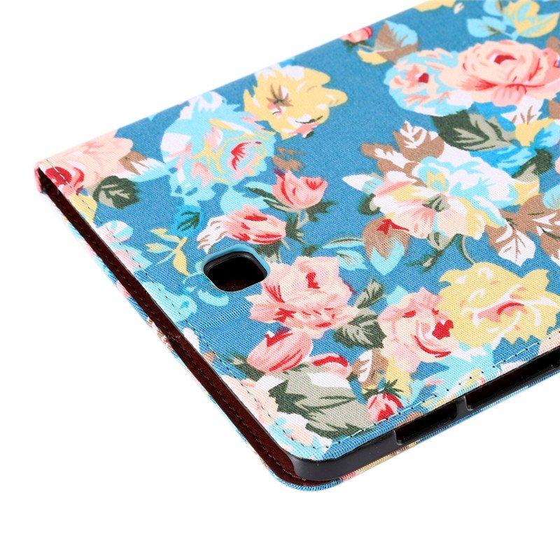 Funda Samsung Galaxy Tab S2 T710 / T713 / T715 Polipiel Dibujos Flores 8 pulg