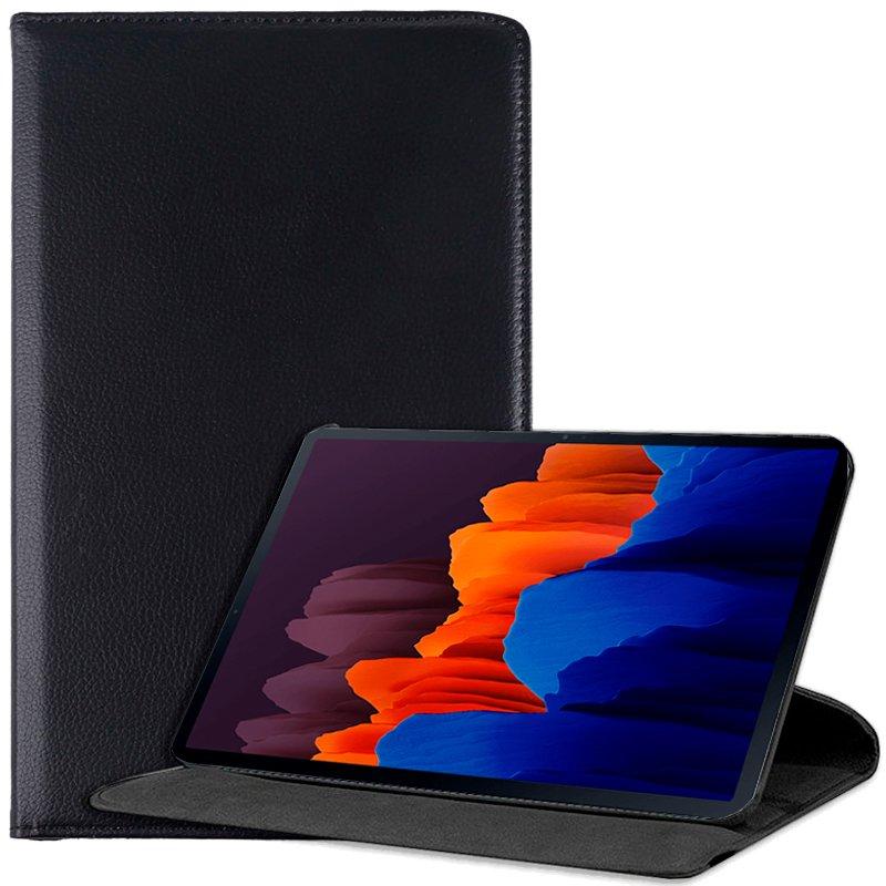 Funda Samsung Galaxy Tab S7 Plus T970 Polipiel Liso Negro 12.4 pulg