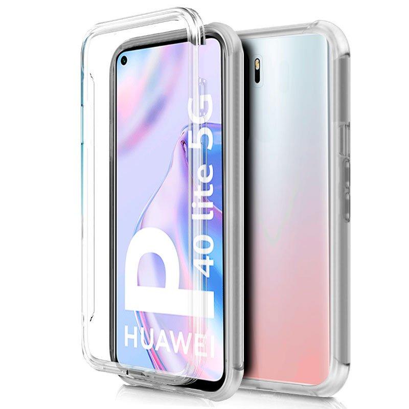 Funda Silicona 3D Huawei P40 Lite 5G (Transparente Frontal + Trasera)