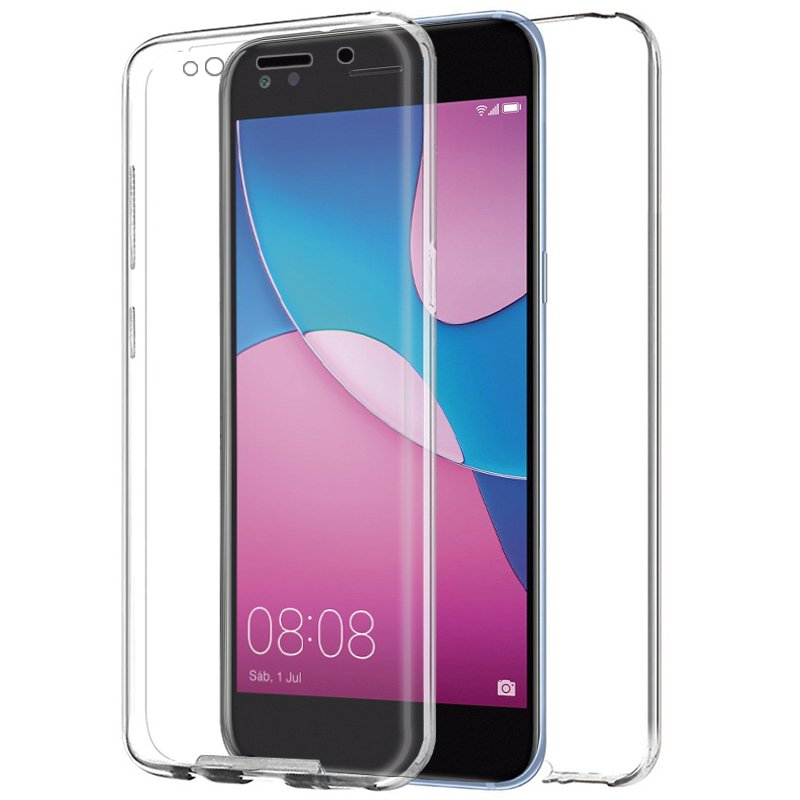 Funda Silicona 3D Huawei Y6 Pro (2017) (Transparente Frontal + Trasera)