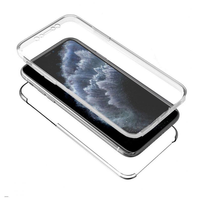 Funda Silicona 3D iPhone 11 Pro (Transparente Frontal + Trasera)
