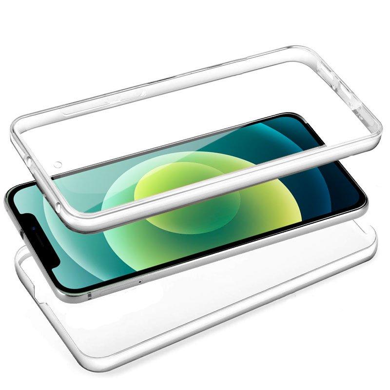 Funda Silicona 3D iPhone 12 / 12 Pro (Transparente Frontal + Trasera)