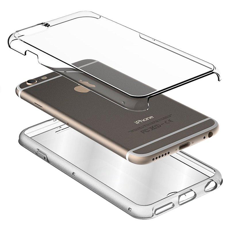 Funda Silicona 3D iPhone 7 / 8 / SE (2020) (Transparente Frontal + Trasera)