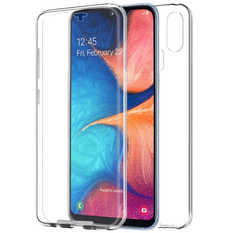 Funda Silicona 3D Samsung A202 Galaxy A20e (Transparente Frontal + Trasera)