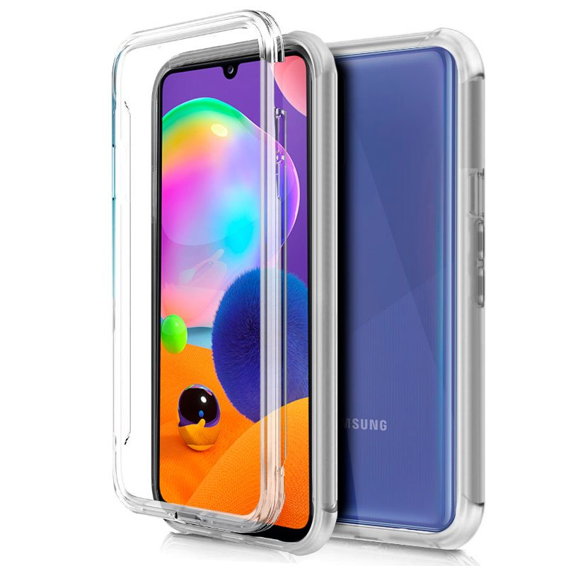 Funda Silicona 3D Samsung A315 Galaxy A31 (Transparente Frontal + Trasera)
