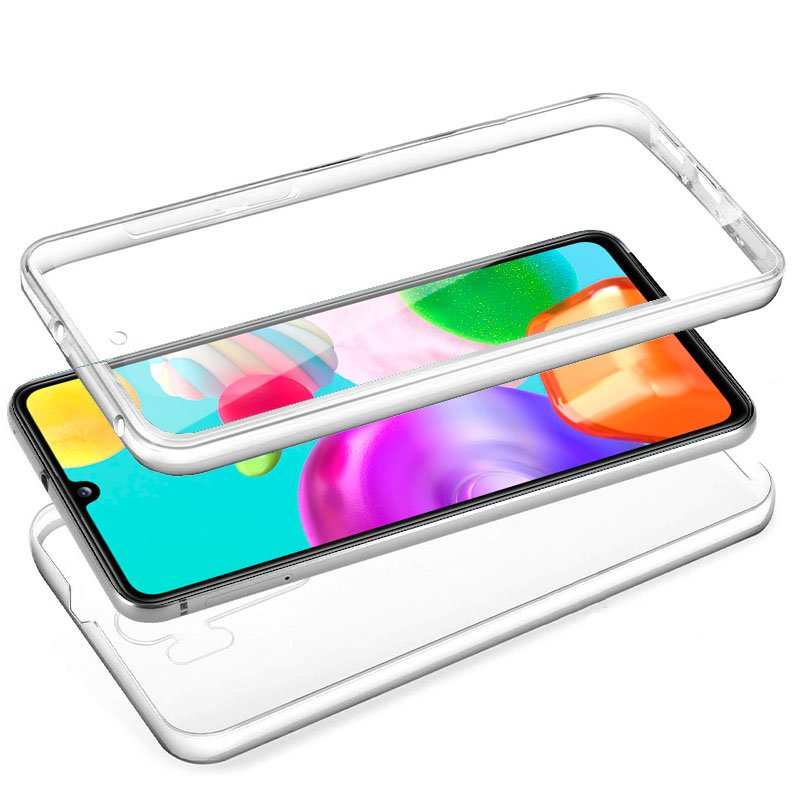 Funda Silicona 3D Samsung A415 Galaxy A41 (Transparente Frontal + Trasera)