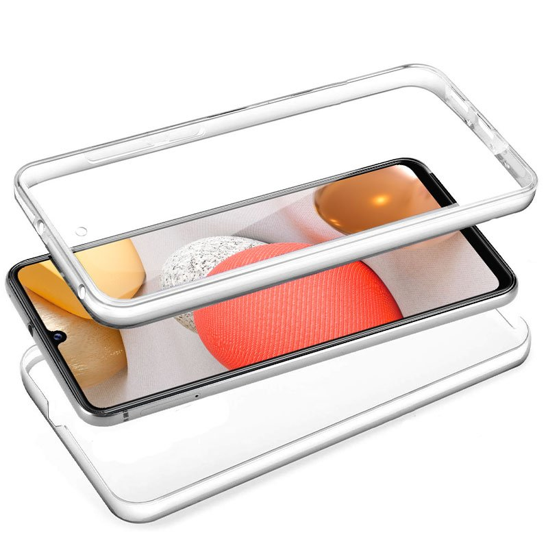 Funda Silicona 3D Samsung A426 Galaxy A42 5G (Transparente Frontal + Trasera)