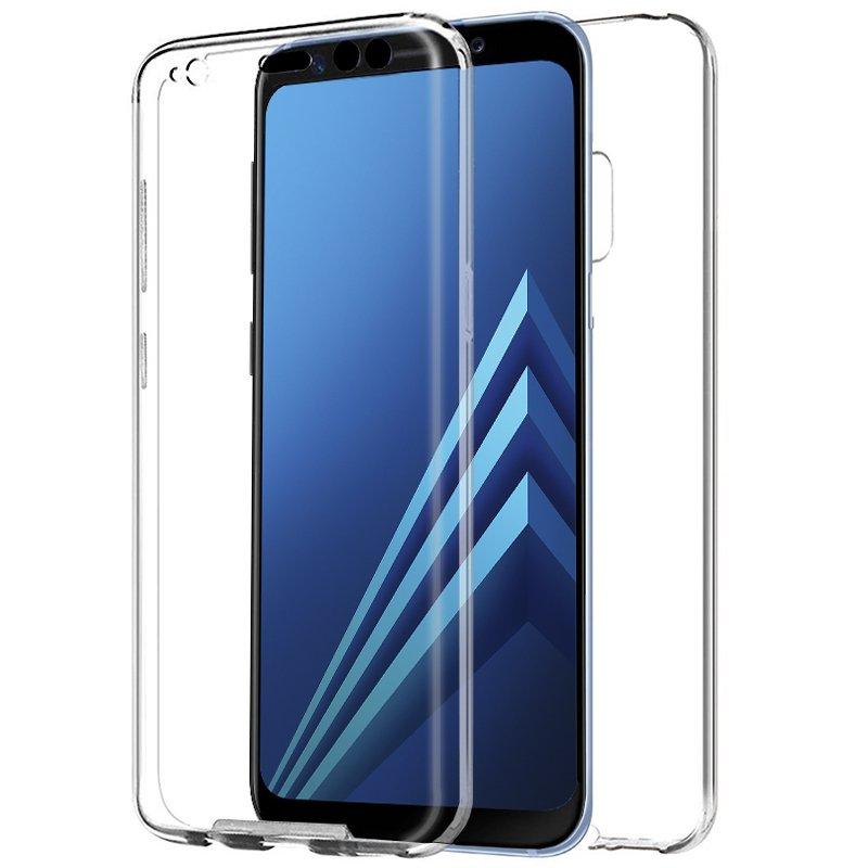 Funda Silicona 3D Samsung A530 Galaxy A8 (2018) (Transparente Frontal + Trasera)