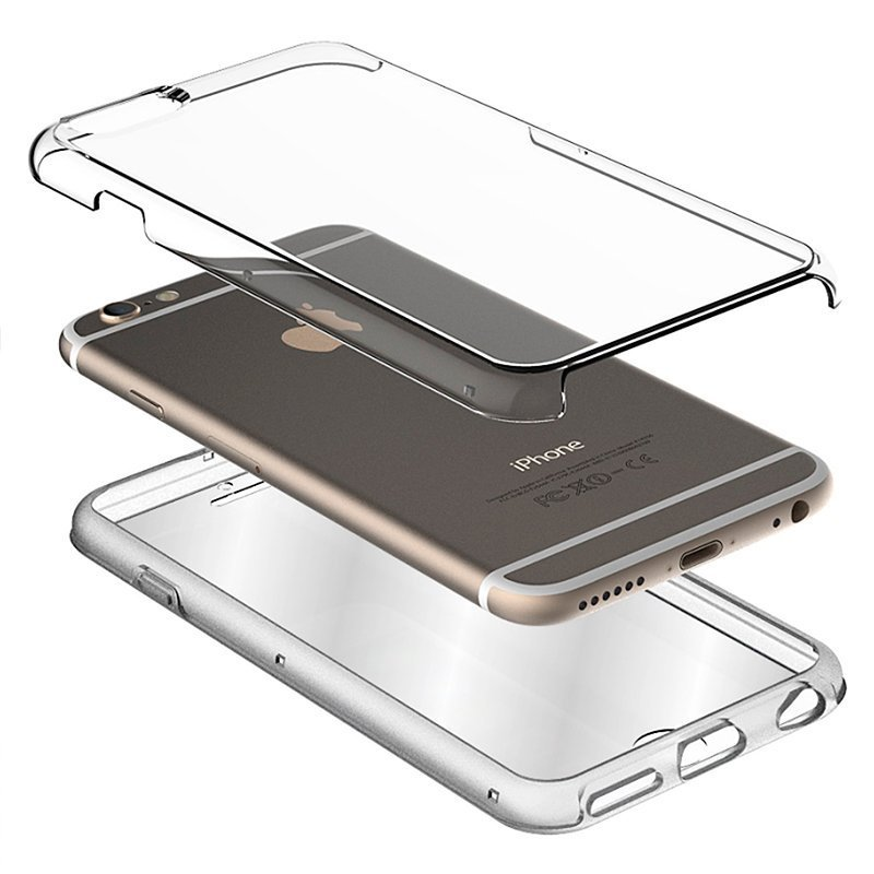 Funda Silicona 3D Samsung A605 Galaxy A6 Plus (Transparente Frontal + Trasera)