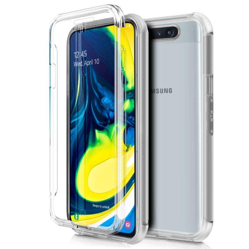 Funda Silicona 3D Samsung A805 Galaxy A80 (Transparente Frontal + Trasera)