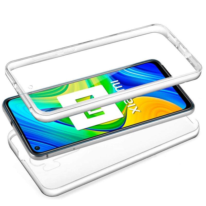 Funda Silicona 3D Xiaomi Redmi Note 9 (Transparente Frontal + Trasera)