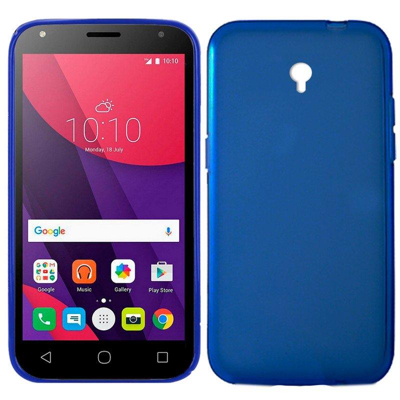 Funda Silicona Alcatel Pixi 4 (5) 4G / Smart Turbo 7 (Azul)