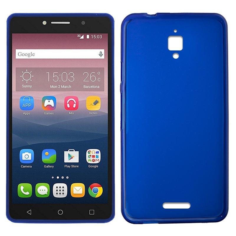 Funda Silicona Alcatel Pixi 4 (6) 4G (Azul)