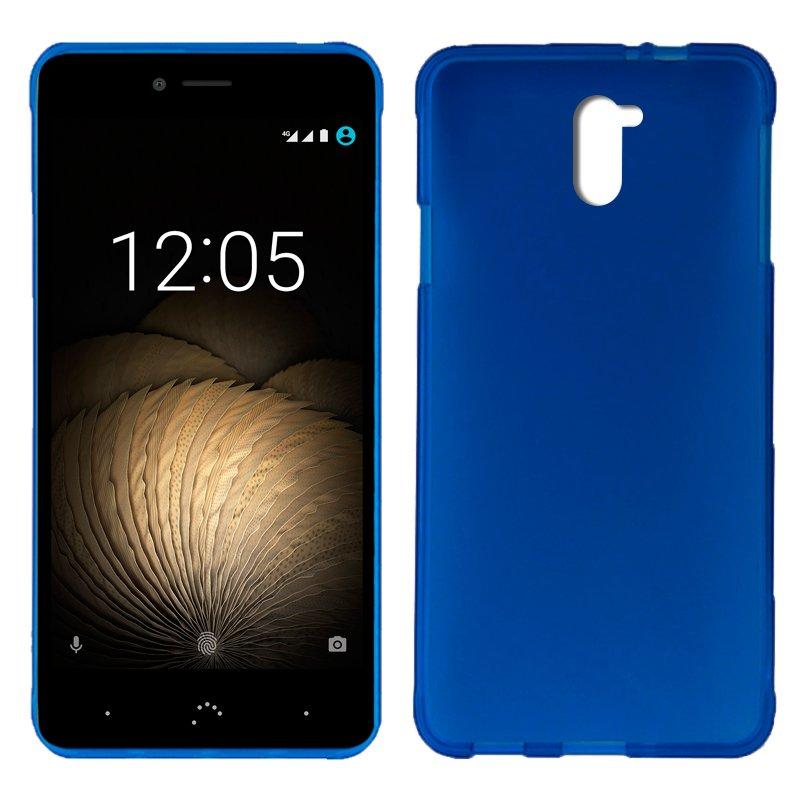 Funda Silicona BQ Aquaris U Plus (Azul)