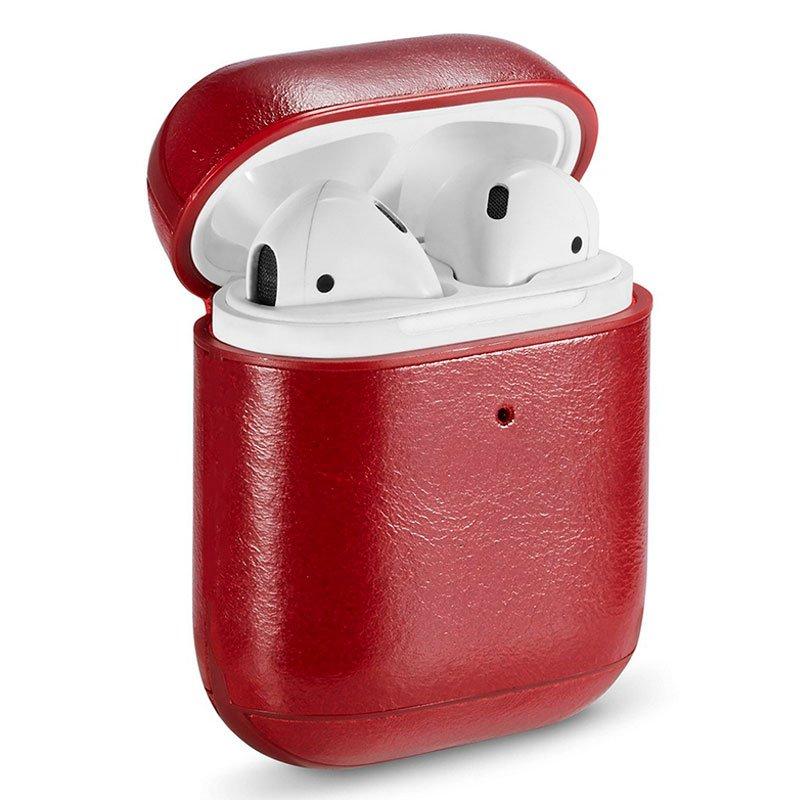 Funda Soft Apple Airpods (Leather Rojo)