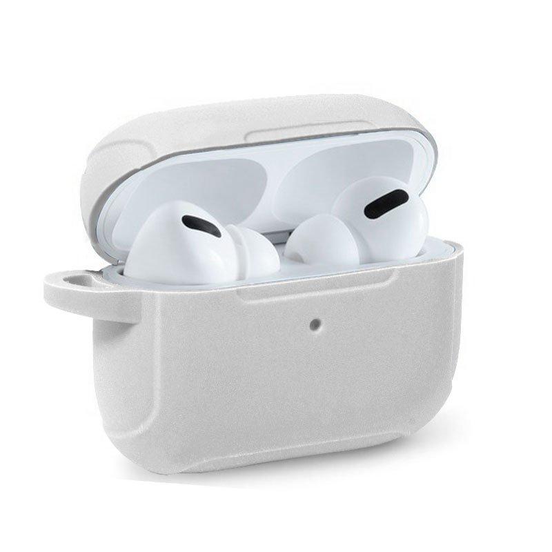 Funda Soft Silicona Apple Airpods Pro (Blanco)
